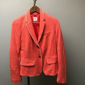 Gap Coral/salmon Women's blazer white trim size 6